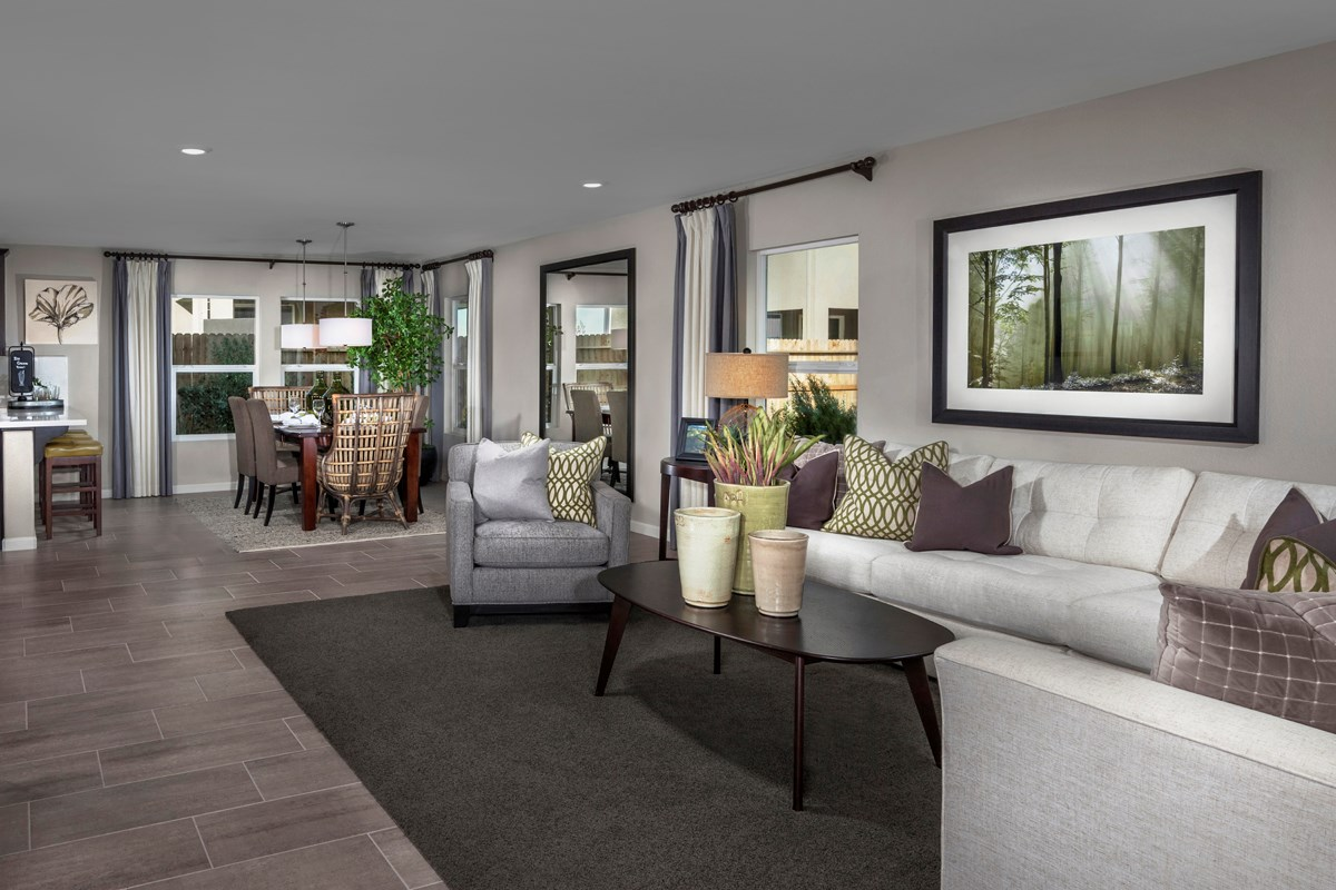 New Homes in Sacramento, CA - Westbury at The Hamptons Plan 3 Great Room