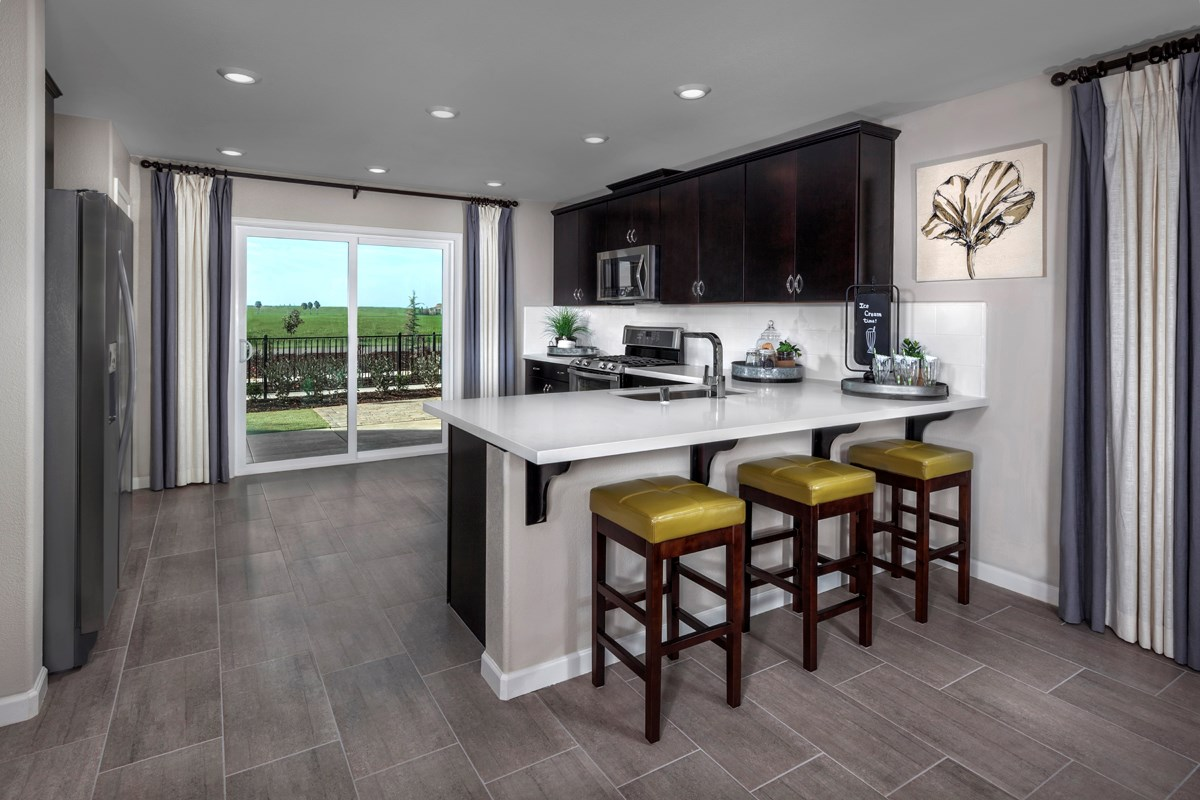 New Homes in Sacramento, CA - Westbury at The Hamptons Plan 3 Kitchen
