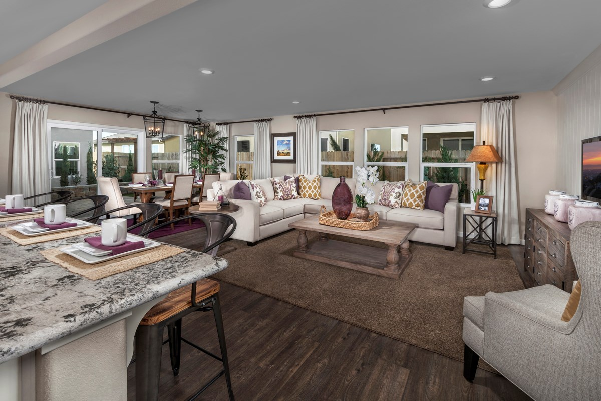 New Homes in Sacramento, CA - Westbury at The Hamptons Plan 4 Great Room