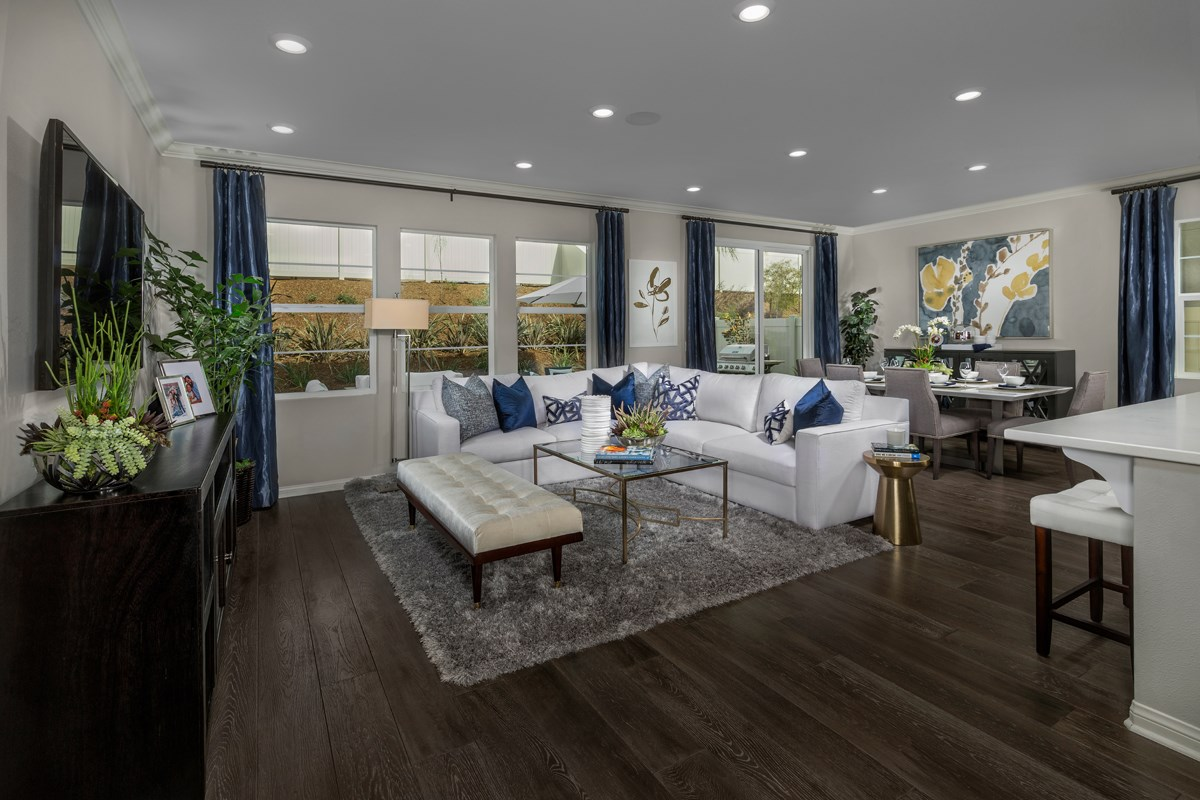 New Homes in San Diego, CA - Lakeshore Residence One Great Room