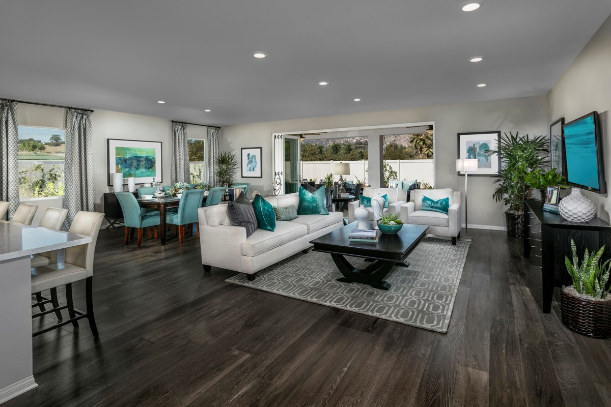 New Homes in Escondido, CA - Lexington Residence 1 Great Room