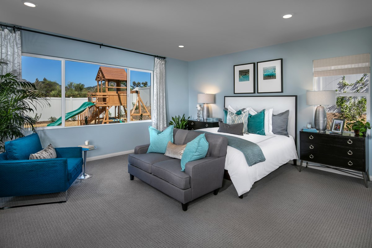 New Homes in Escondido, CA - Lexington Residence 1 Master Bedroom