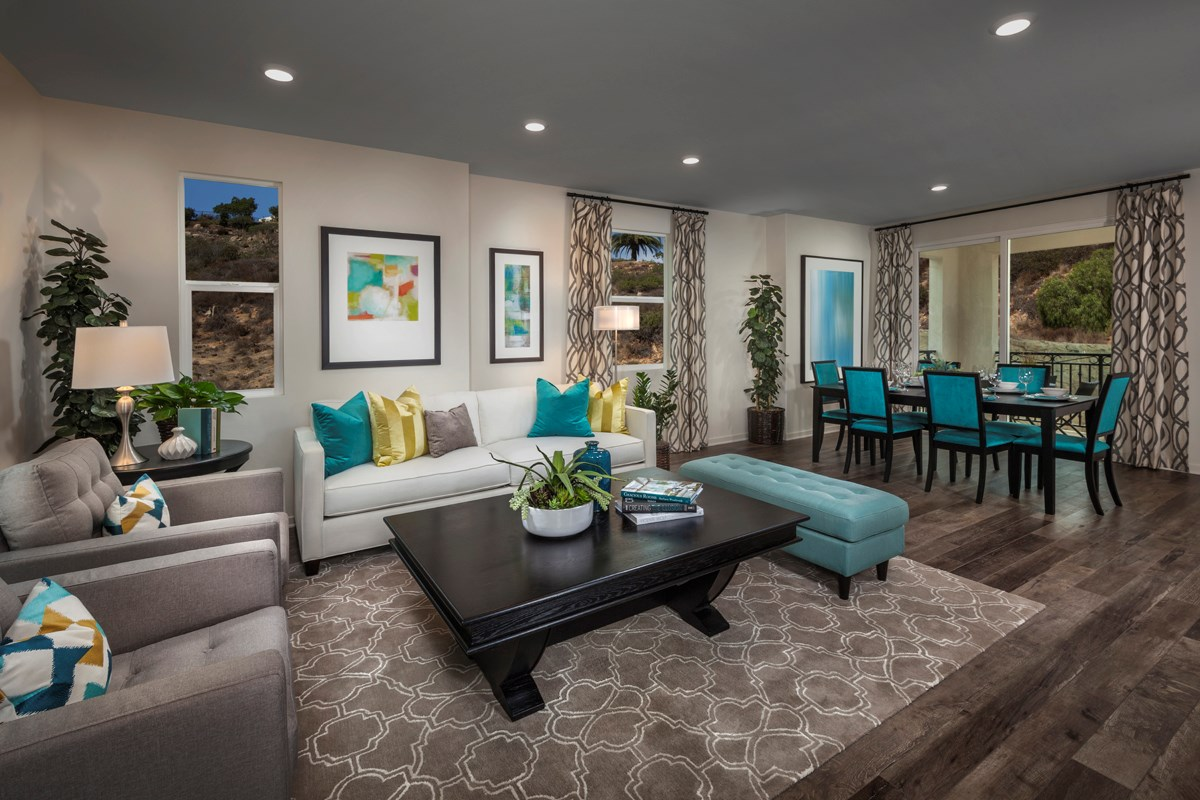 New Homes in San Marcos, CA - Mission Villas - Mission Terrace Residence Four - Great Room