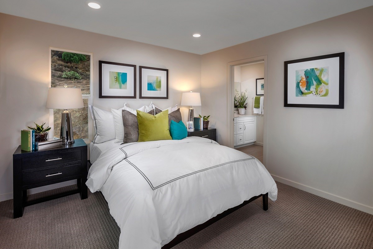 New Homes in San Marcos, CA - Mission Villas - Mission Terrace Residence Four - Master Bedroom