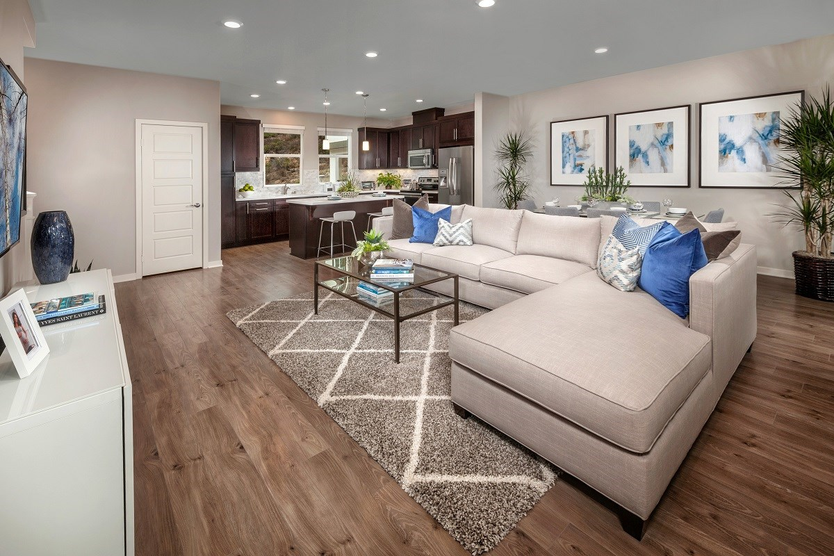 New Homes in San Marcos, CA - Mission Villas - Mission Terrace Residence Five - Great Room