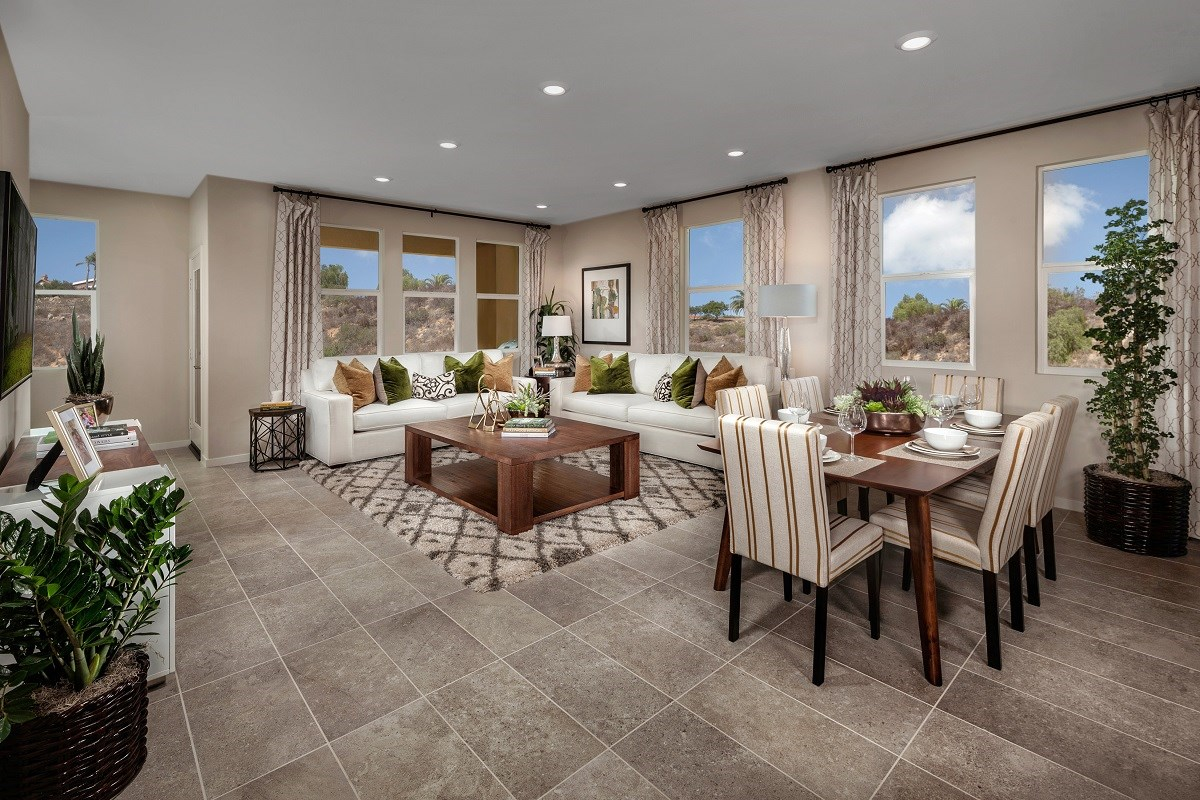 New Homes in San Marcos, CA - Mission Villas - Mission Terrace Residence Six - Great Room