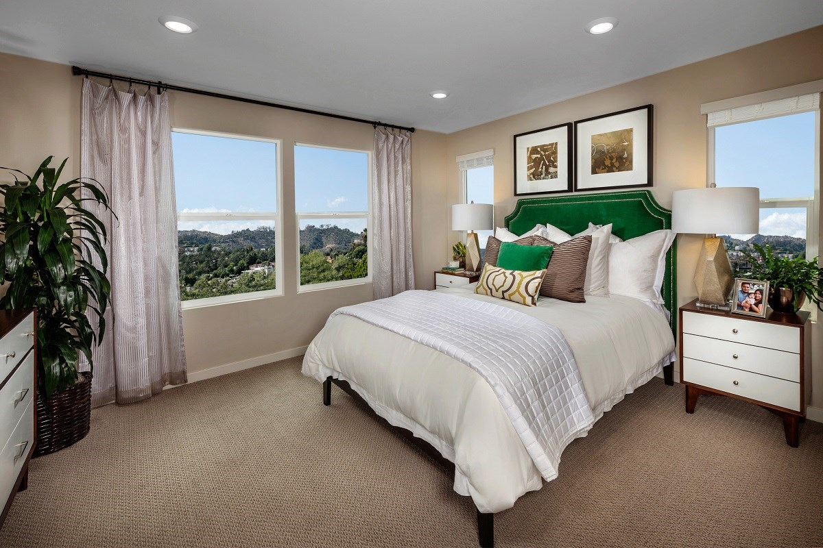 New Homes in San Marcos, CA - Mission Villas - Mission Terrace Residence Six - Master Bedroom