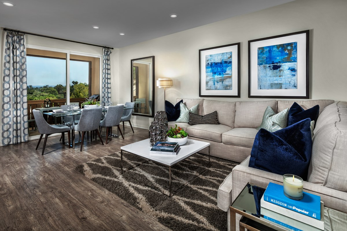 New Homes in San Marcos, CA - Mission Villas - Mission Terrace Residence One - Great Room