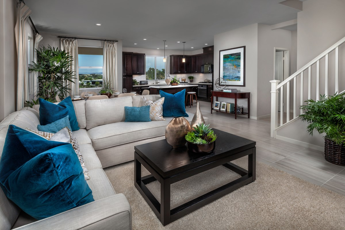 New Homes in San Marcos, CA - Mission Villas - Mission Terrace Residence Two - Great Room
