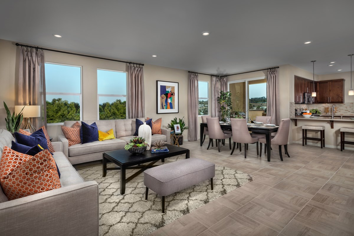 New Homes in San Marcos, CA - Mission Villas - Mission Terrace Residence Three - Great Room