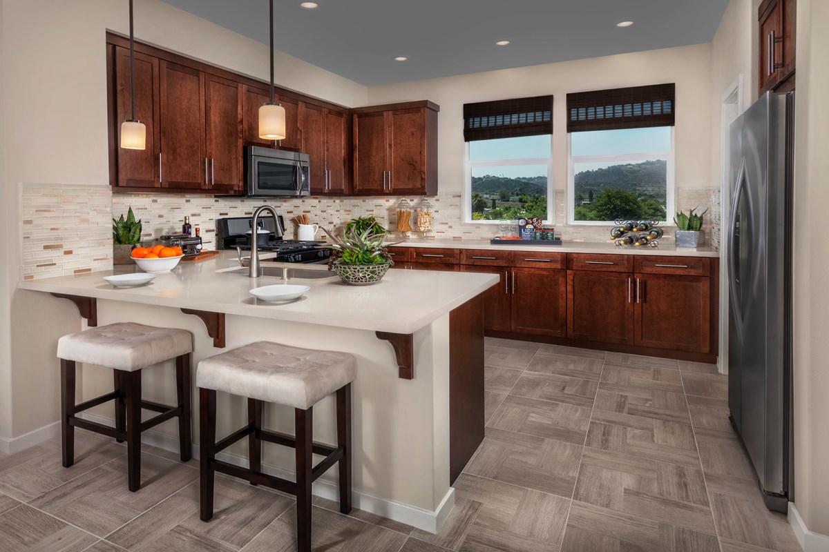 New Homes in San Marcos, CA - Mission Villas - Mission Terrace Residence Three - Kitchen