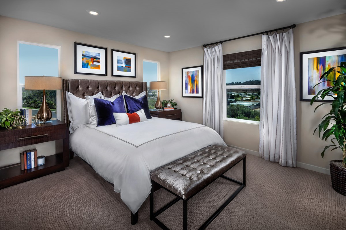 New Homes in San Marcos, CA - Mission Villas - Mission Terrace Residence Three - Master Bedroom
