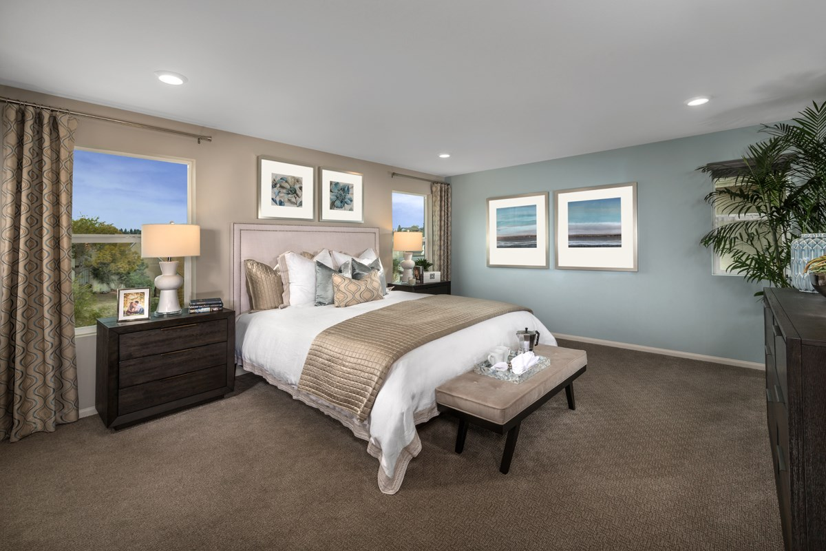 New Homes in San Diego, CA - Parkview Terrace Residence One Master Bedroom