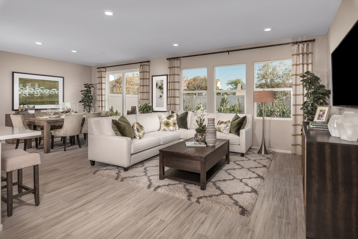 New Homes in San Diego, CA - Parkview Terrace Residence Two Great Room