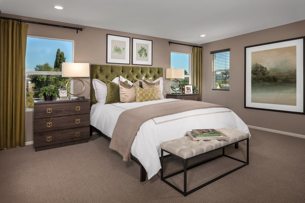 New Homes in San Diego, CA - Parkview Terrace Residence Two Master Bedroom