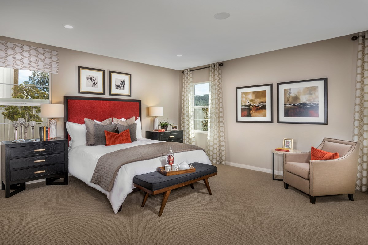 New Homes in Santee, CA - River Village Residence One Master Bedroom