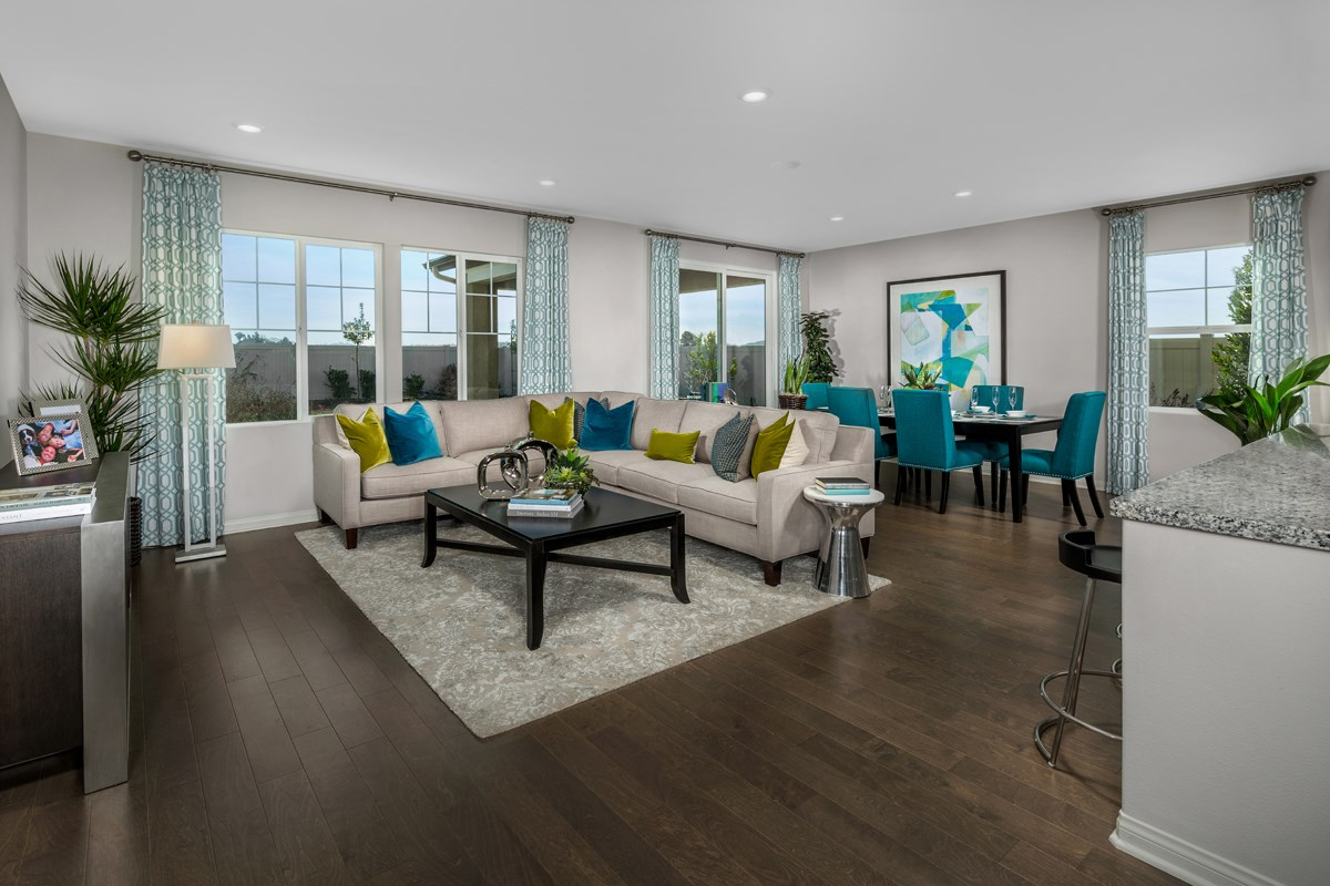 New Homes in Santee, CA - River Village Residence Three Great Room