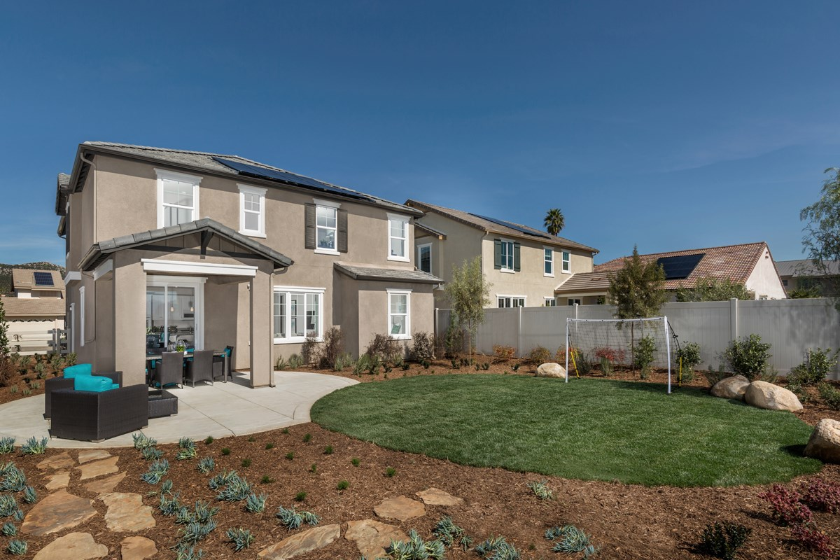 New Homes in Santee, CA - River Village Residence Three Patio
