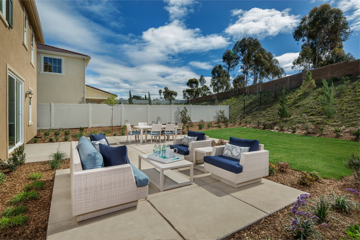 New Homes in San Diego, CA - Sea Cliff II Residence 2608 - Rear Yard Patio