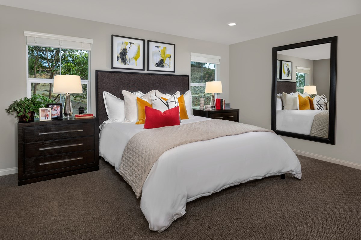 New Homes in Vista, CA - Sierra Residence One Master Bedroom