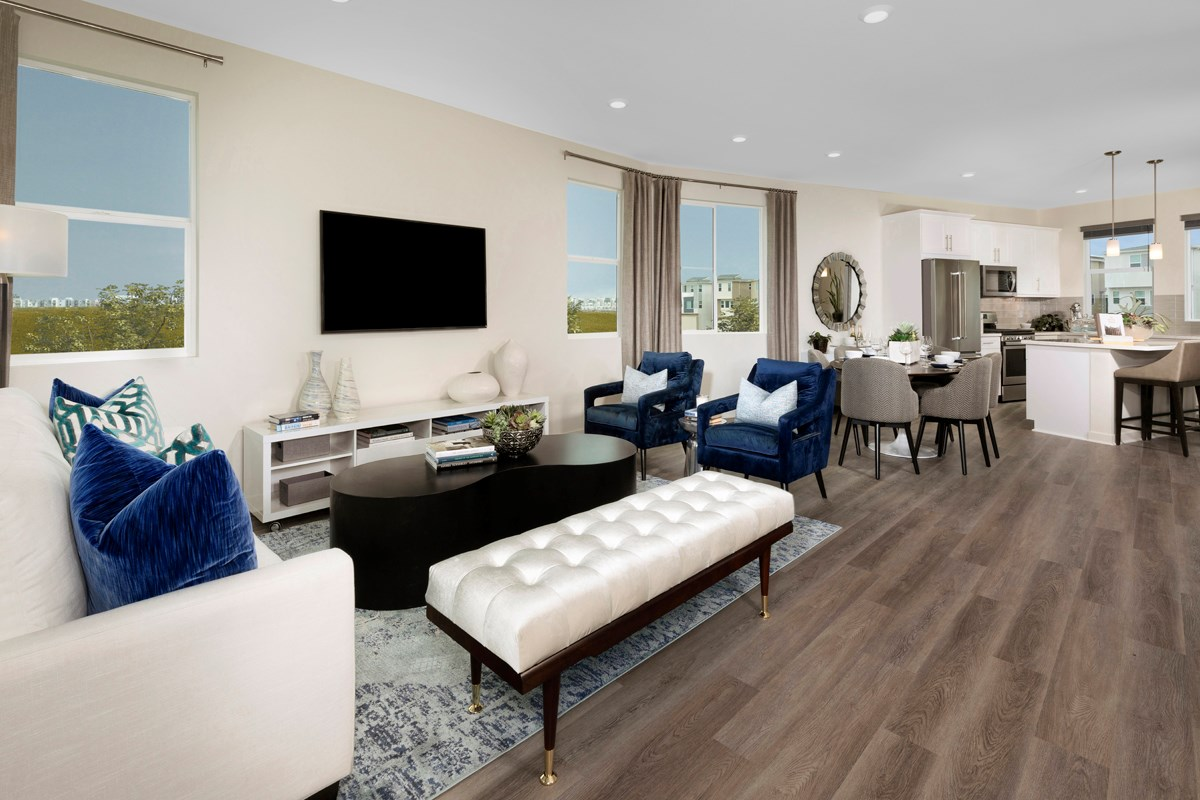 New Homes in Chula Vista, CA - Skylar at Millenia Residence Three Great Room