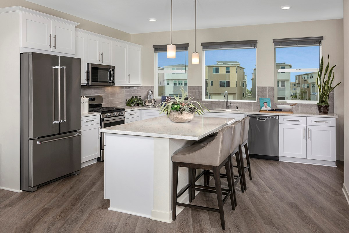 New Homes in Chula Vista, CA - Skylar at Millenia Residence Three Kitchen