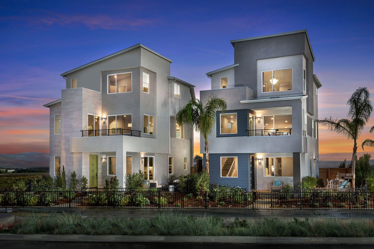 New Homes in Chula Vista, CA - Skylar at Millenia Exterior Street Scene