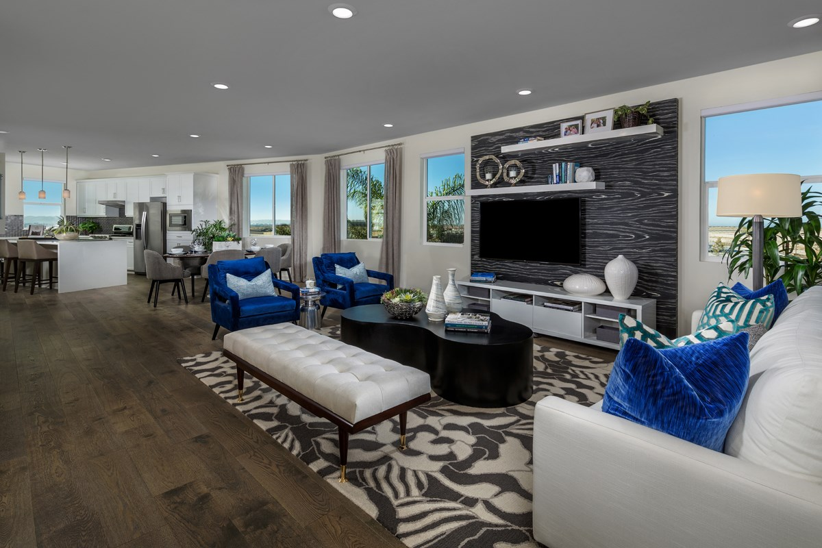 New Homes in Chula Vista, CA - Skylar at Millenia Residence One Great Room