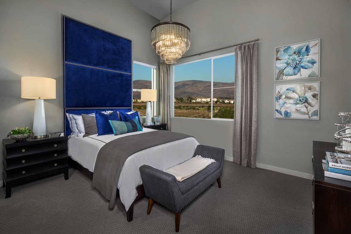 New Homes in Chula Vista, CA - Skylar at Millenia Residence One Master Bedroom