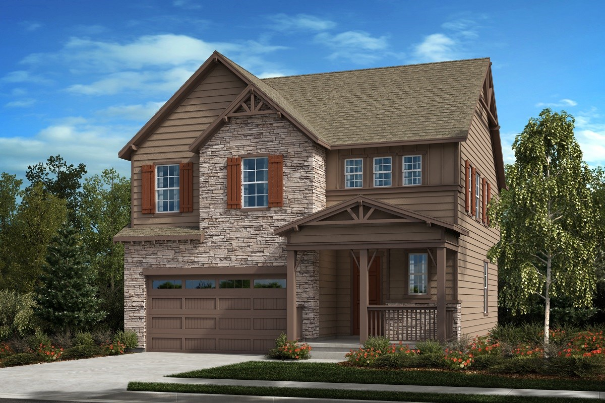New Homes in Castle Pines, CO - The Canyons Glimpse - Elevation C