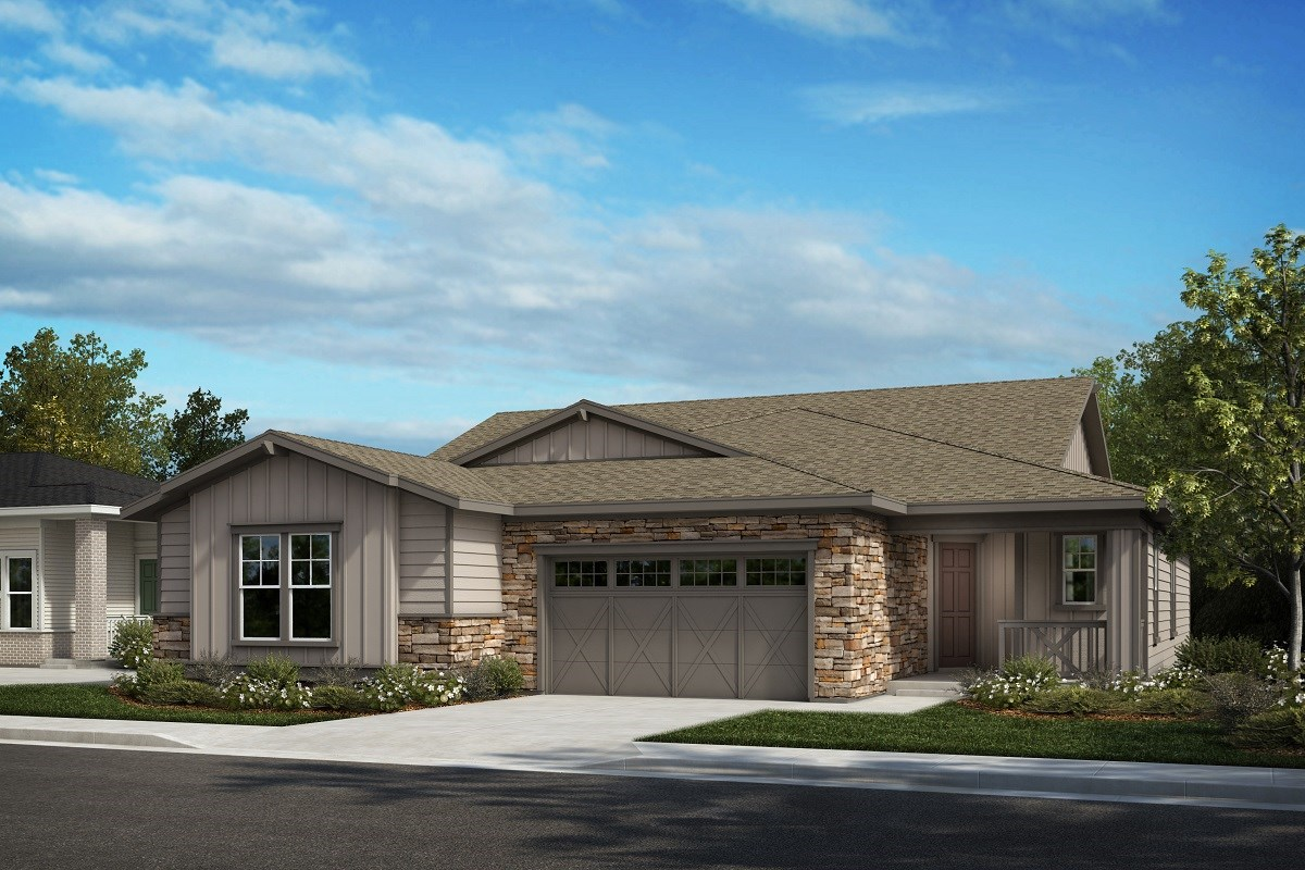 New Homes in Castle Pines, CO - The Canyons Villas Canvas - Colorado Ranch
