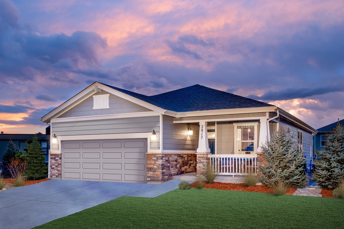 New Homes in Aurora, CO - Sky Ranch Aspire as modeled at The Lakes at Centerra
