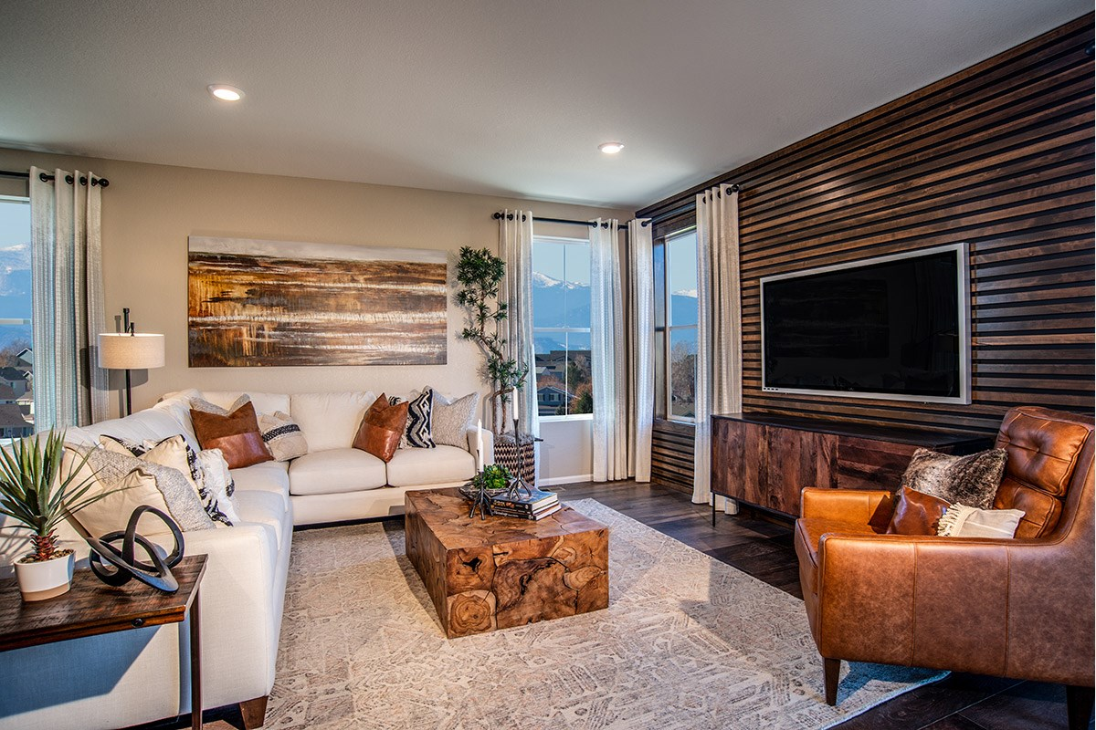 New Homes in Aurora, CO - Copperleaf Hawthorn - Living Room