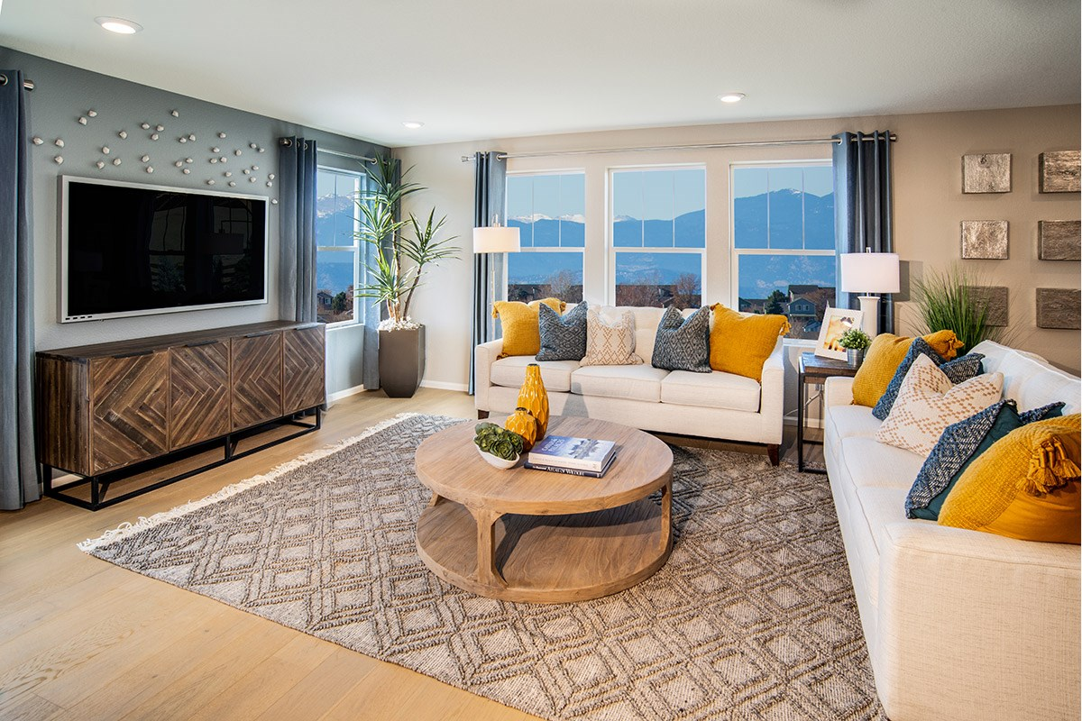 New Homes in Aurora, CO - Copperleaf Kittredge - Living Room