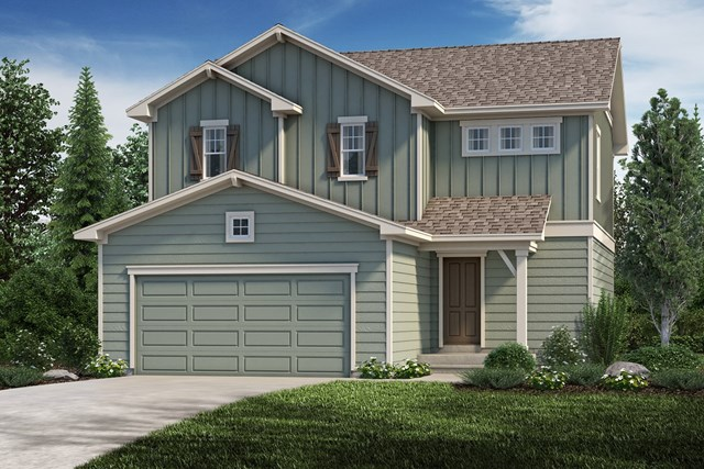 New Homes in Aurora, CO - The Deckers - Elevation A