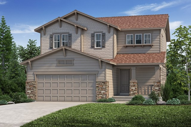 New Homes in Aurora, CO - The Deckers - Elevation C