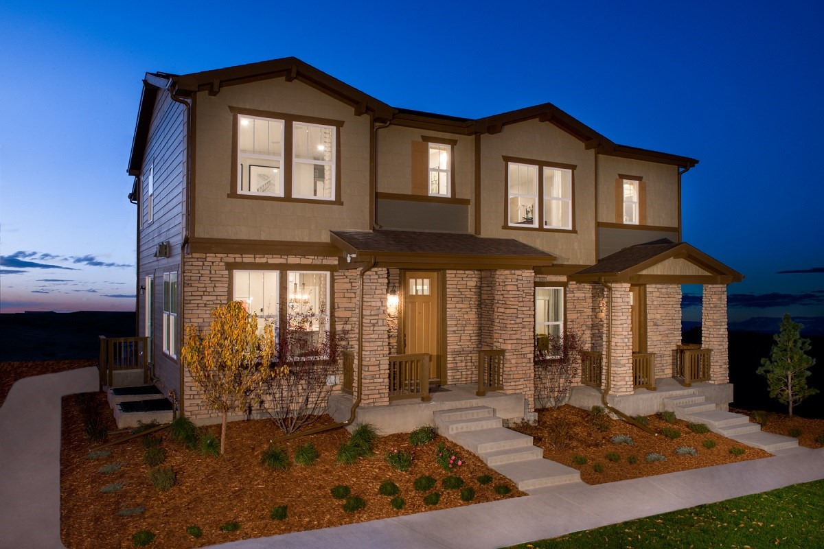 New Homes in Aurora, CO - Highland Villas Willow & Spruce Paired Home Models