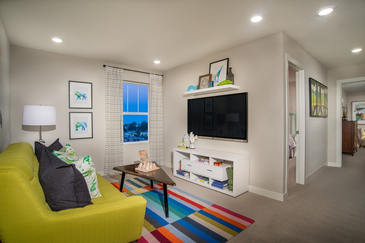 New Homes in Aurora, CO - Highland Villas Spruce Loft Media Room