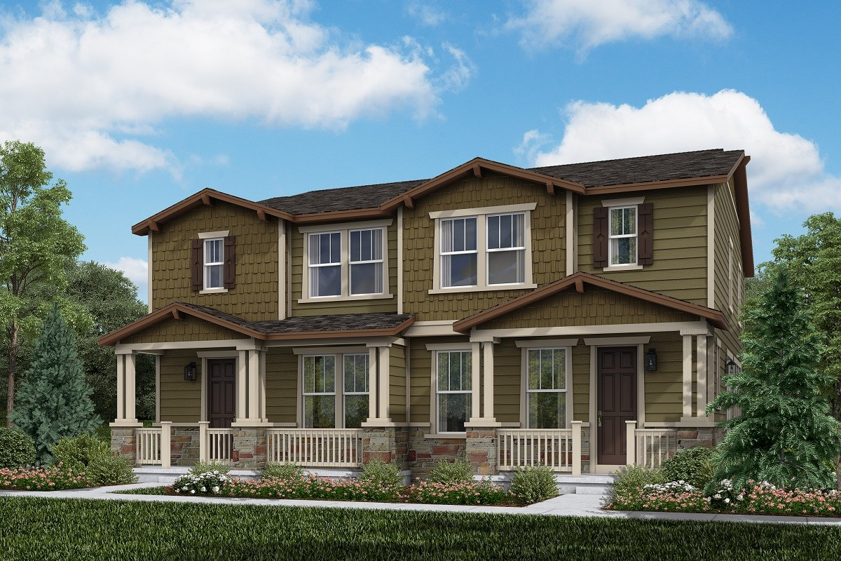 New Homes in Thornton, CO - Homestead Hills Villas Spruce & Spruce