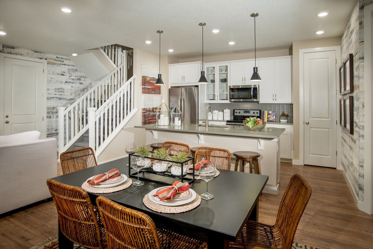 New Homes in Littleton, CO - Jamison Villas Spruce Kitchen & Dining Room