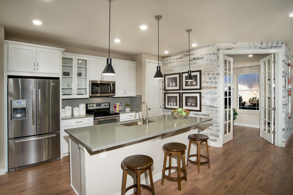 New Homes in Littleton, CO - Jamison Villas Spruce Model Kitchen