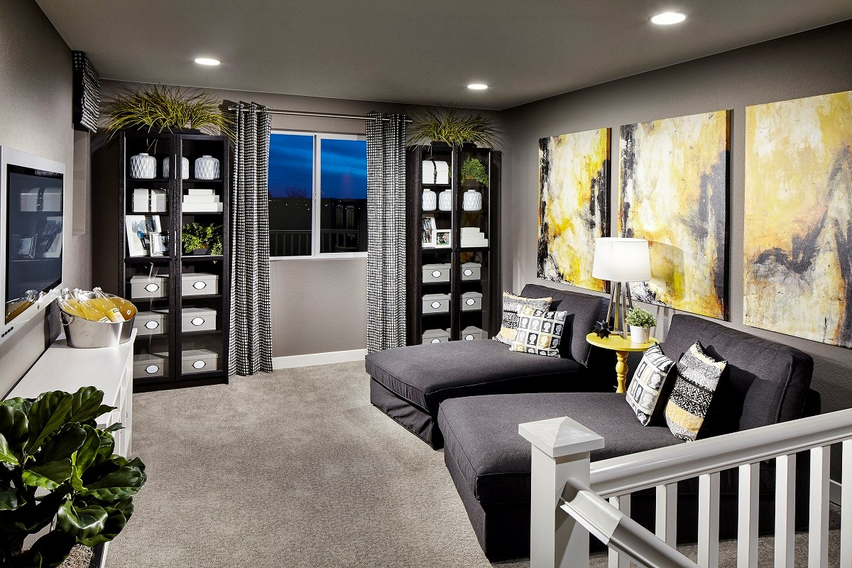 New Homes in Broomfield, CO - The Villas at North Park Cypress Loft for media room or home office