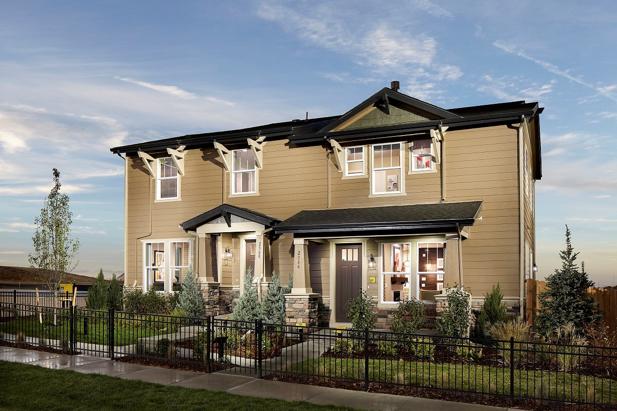 New Homes in Broomfield, CO - The Villas at North Park Cypress and Willow Paired Home