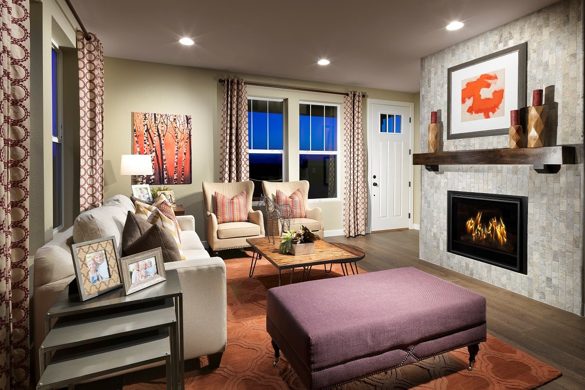 New Homes in Broomfield, CO - The Villas at North Park Willow Family Room