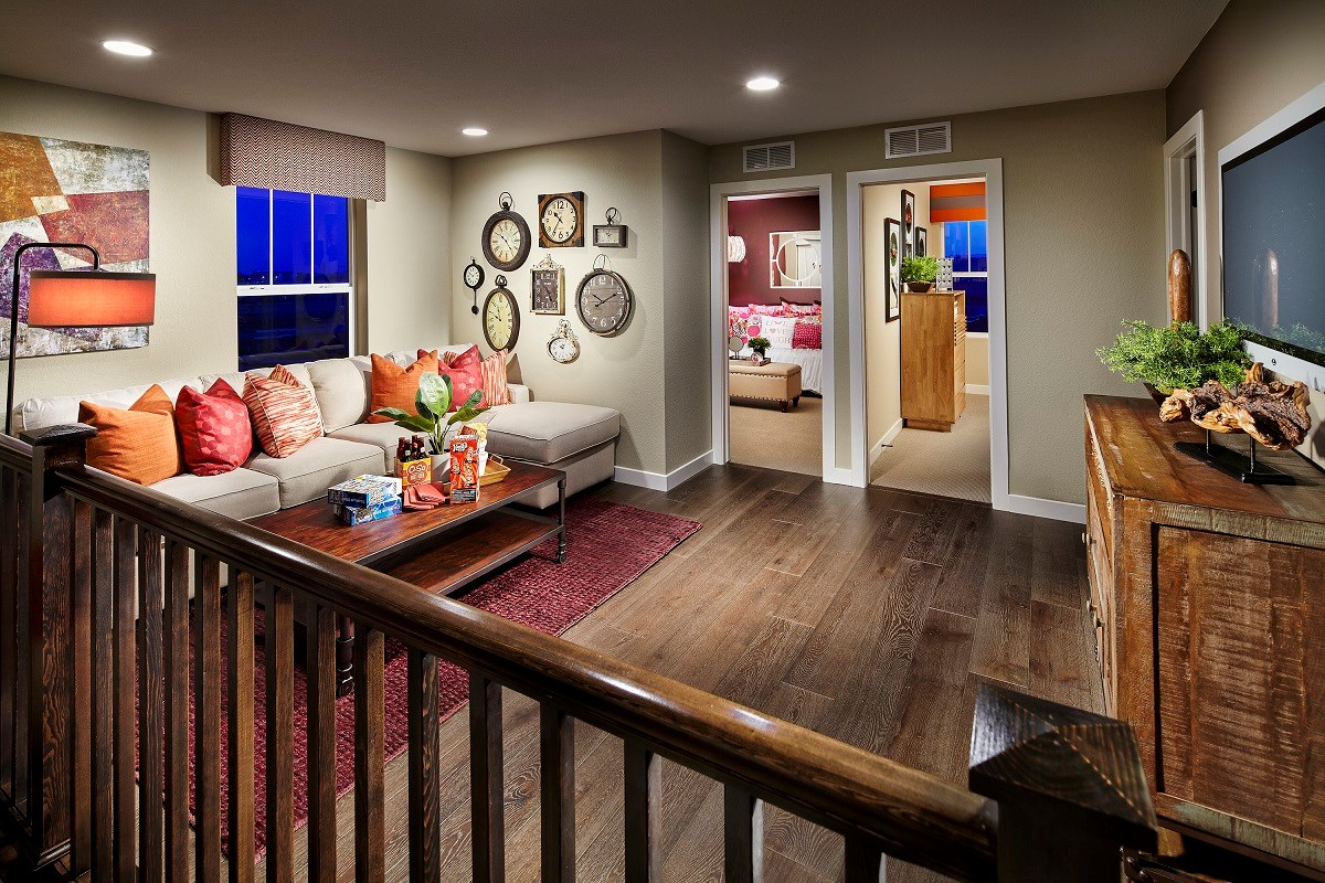 New Homes in Broomfield, CO - The Villas at North Park Willow Loft Game Room or Home Office