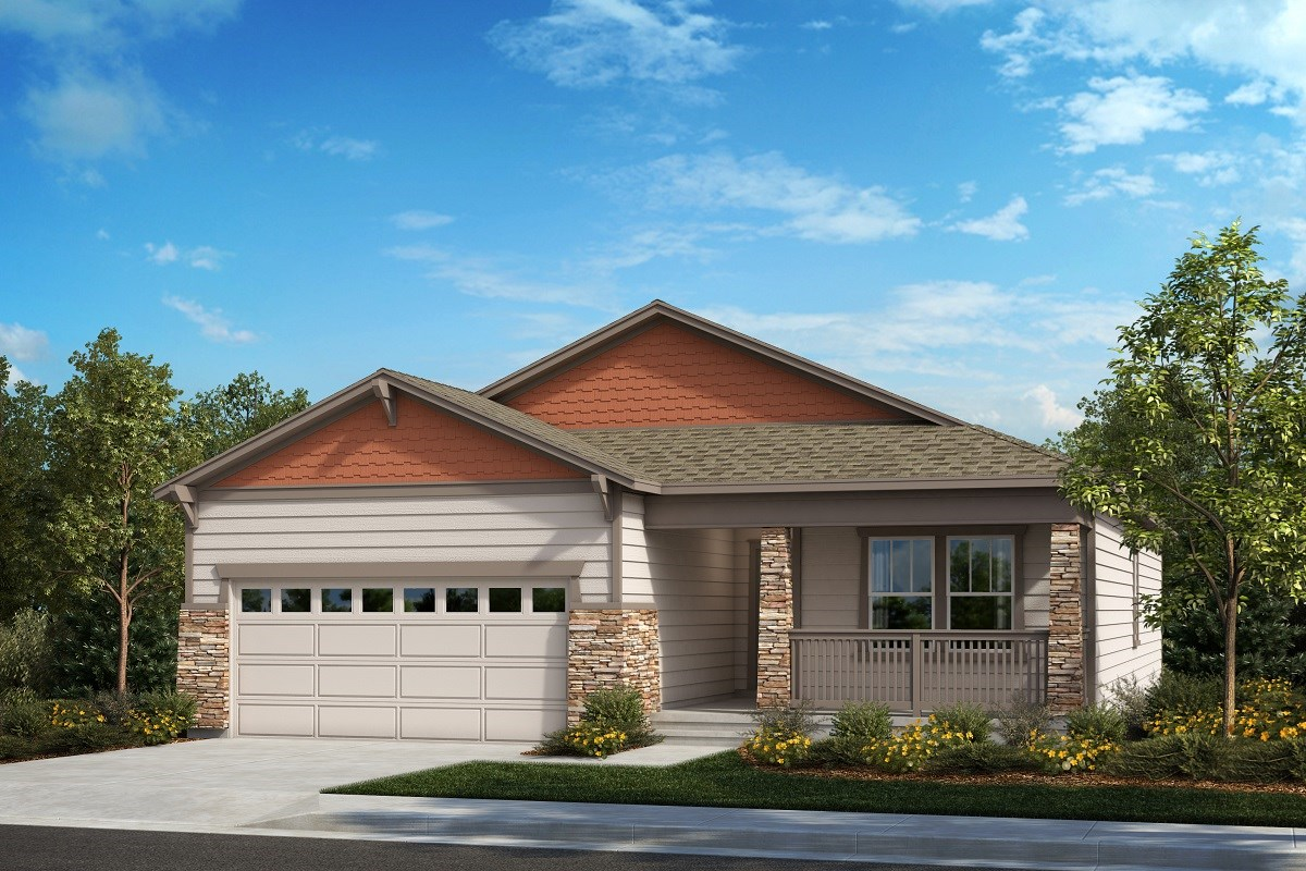 New Homes in Aurora, CO - Painted Prairie The Chaucer - Elevation B