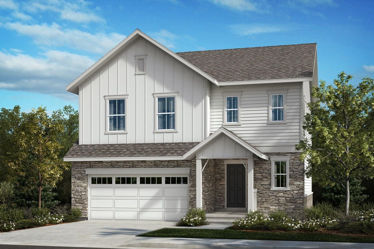 New Homes in Aurora, CO - Painted Prairie The Glimpse - Elevation A