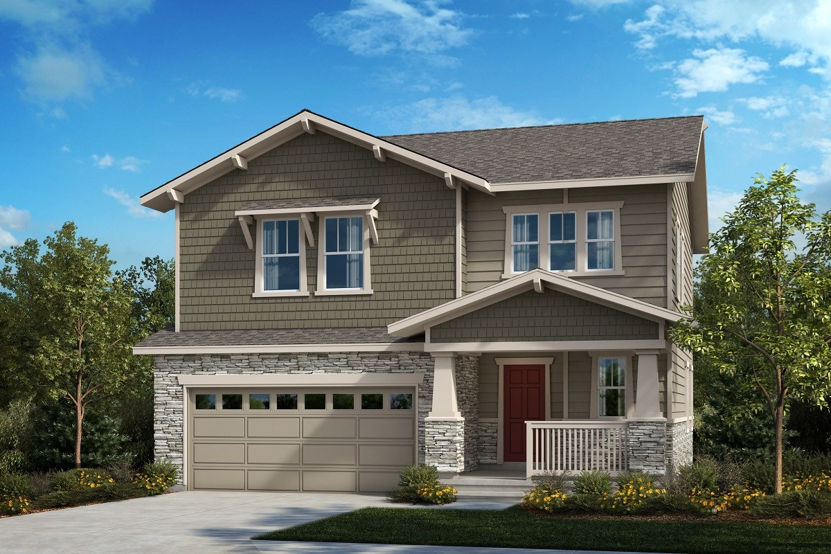 New Homes in Aurora, CO - Painted Prairie The Glimpse - Elevation B