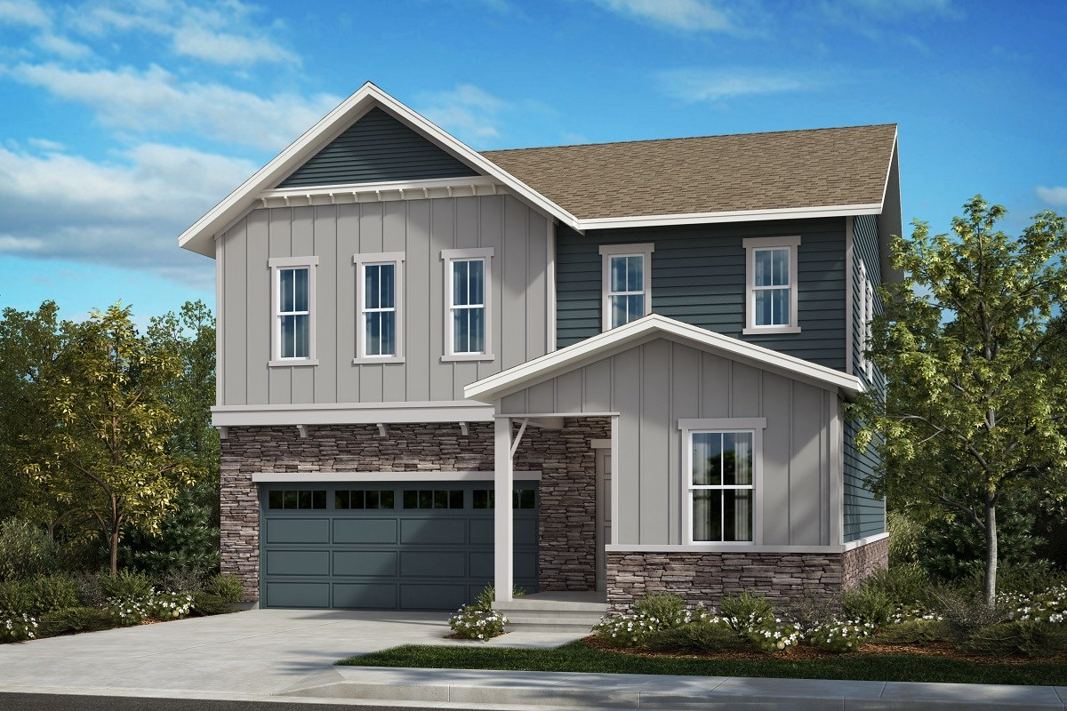 New Homes in Aurora, CO - Painted Prairie The Memory - Elevation A