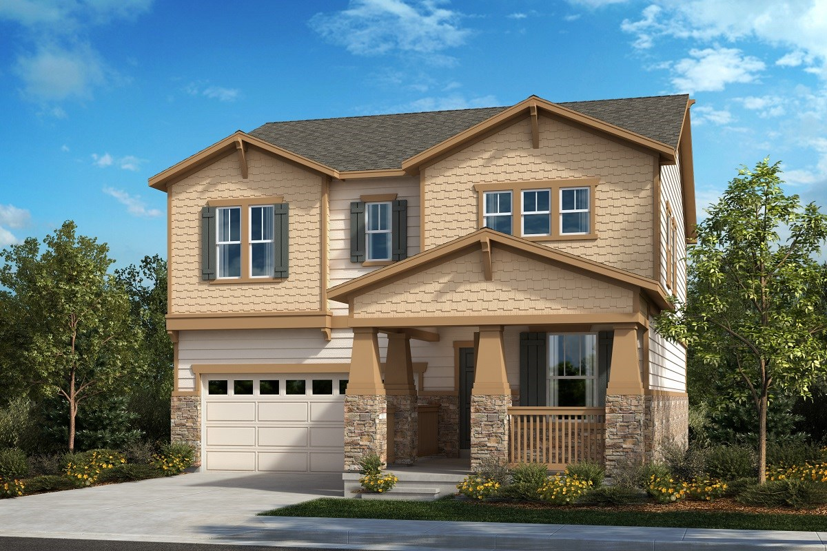 New Homes in Aurora, CO - Painted Prairie The Memory - Elevation B